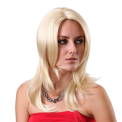 ly Womens Perücken Schulter Länge Seitenteil Kunsthaar Kostüm für Damen Mädchen Daily Wear Cosplay Party Kostüm ()