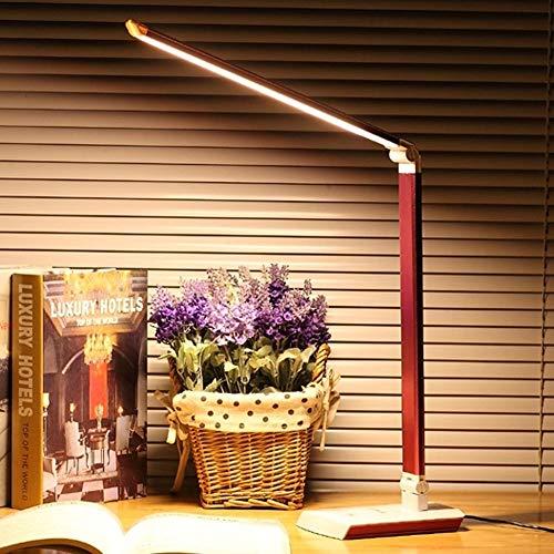 KKK lighting LED Faltbare Noten-Tischlampe, Brille, Nachttischlampe, Büro, Schlafzimmer, Lesen und Schlafzimmerlichter (Color : Red)