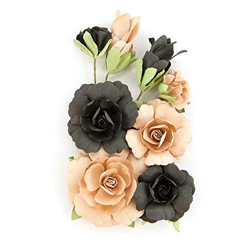PRIMA Zella Teal-Flowers Fearless, Blaugrün, Grau, Pfirsich (Scrapbook-papier Inspirierende)