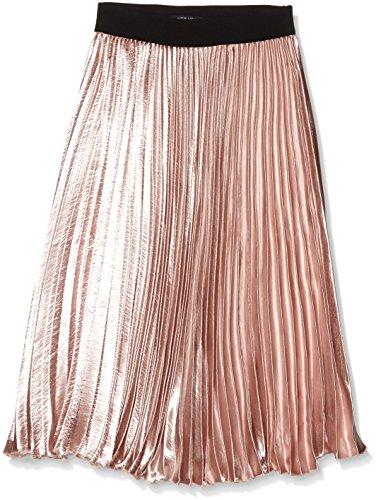 New Look Petite Damen Rock Petite Satin Pleat, Beige (Nude), 34 (Satin Petite)