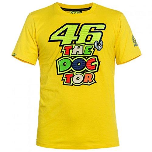 Valentino Rossi VR46 amarillo de la camiseta del Doctor Moto GP oficial 2016