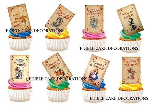 rland Spielkarten Stand Up Essbare Papier Cupcake Topper Kuchen Dekorationen ()