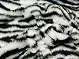 Animal Print kurz Flor Fell Stoff Zebra – Meterware +
