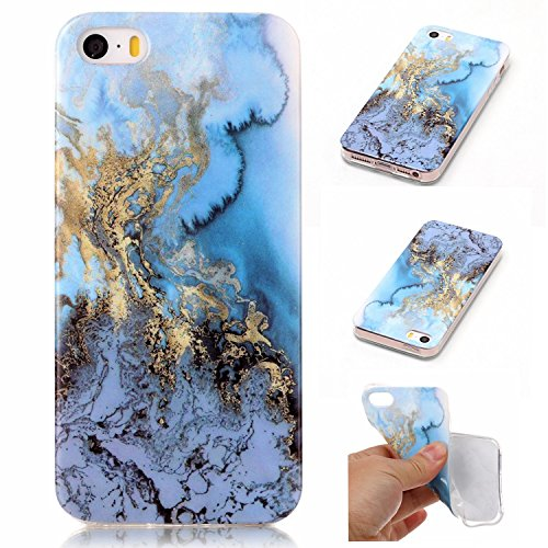 Pour Apple IPhone 5 5s SE Case Marbling Texture Soft TPU Cover Slim Ultra Thin Anti-Scratch Shock Absorption Protective Back Cover Shell ( Color : J ) A