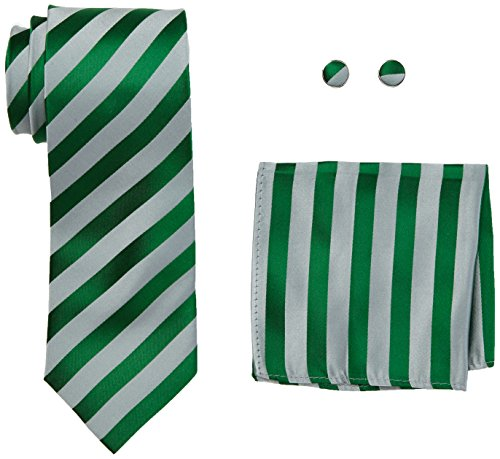 landisun Stripe, Set de Cravates Homme Green (18A97 Grey Green)