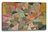 Paul Klee - Unbenannt (1914), 120 x 80 cm (weitere Größen verfügbar), Leinwand auf Keilrahmen gespannt und fertig zum Aufhängen, hochwertiger Kunstdruck aus deutscher Produktion (Alte Meister bis Moderne Kunst). Stil: Abstrakte Malerei, Abstrakte Kunst, Expressionismus, Kubismus
