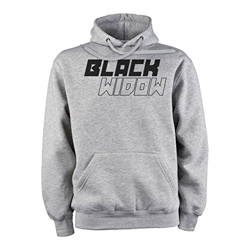 The Avengers Black Widow Logo Black And White Medium Unisex Hoodie