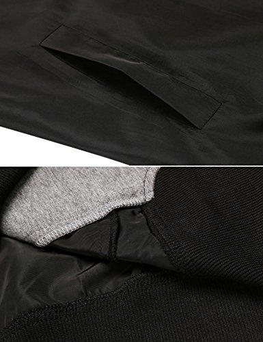 Damen Jacke Mantel Kapuzenjacke 2 in 1 jacke Windjacke Spleiß Reißverschluss Langarm Hoodies Outdoorjacke Weinrot Blau Grün S-XXL Schwarz
