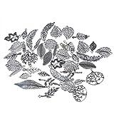 Souarts 1 Set Antik Silber Farbe Blatt Schmuckzubehör Basteln Charms