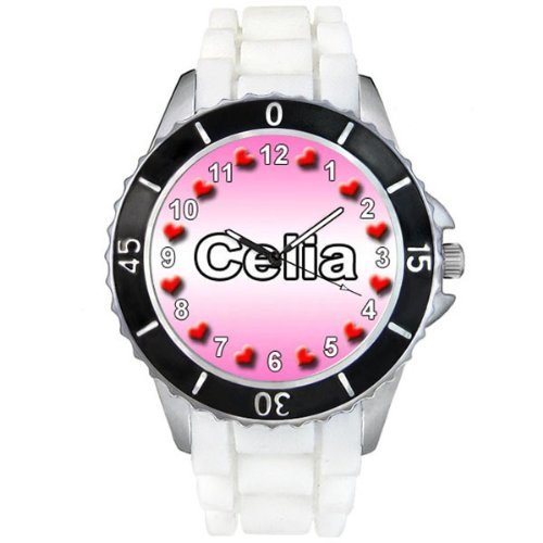 name-celia-white-jelly-silicone-band-ladies-sports-wrist-watch