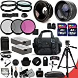 Canon EOS Rebel T3i ACCESSORIES Kit Includes: 58mm High Definition 2X Telephoto Lens + 58mm High Definition Wide Angle Lens + 32GB High Speed Memory Card + 16GB High Speed Memory Card (Total Of 48GB) + Full Size Pro Series 72 Inch Tripod + 2 LP-E8 / LPE8