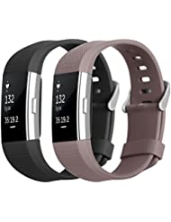 Hanlesi Armband für Fitbit Charge 2 , TPU Silikon Einstellbare Ersatz Sport Band für Fitbit Charge 2 HR+ Smartwatch Fitness Band