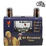Coffret Bière St Bernardus 4 bouteilles + 1 verre St ...