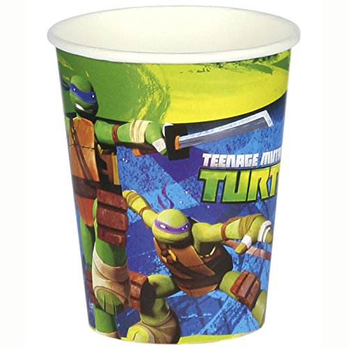 PARTY DISCOUNT NEU Becher Ninja Turtles 8 Stk. 266 ml