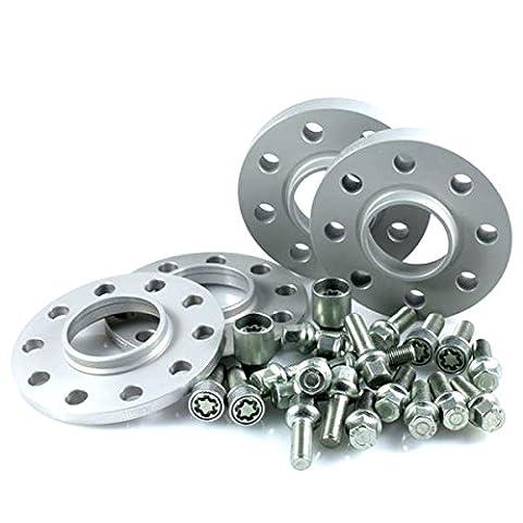TuningHeads/H&R .0438023.DK.55571-10A-12.A6-TYP-4F ABE Spurverbreiterung, VA 20 mm/HA 24 mm + Radschrauben +