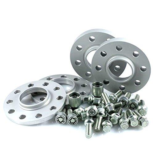 TuningHeads/H&R .0438543.DK.55571-10A-15.GOLF-VI-TYP-1K ABE Spurverbreiterung, VA 20 mm/HA 30 mm + Radschrauben + Felgenschlösser