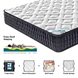 HomyLink 4FT6 Double Mattress Pocket Sprung Memory Foam 9-Zone Orthopaedic 23.5cm Height 3D