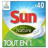 Sun Tout En 1 Tablettes Lave-Vaisselle Pouvoir de la Nature Eco-Label 40 Lavages