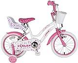 F.lli Schiano Lola Vélo Fille, Rose/Violet, Taille 16'