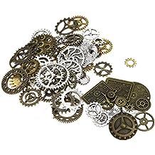Perlen Uhr Anhänger Steampunk-Sets mit Zahnräder für Basteln Schmuck