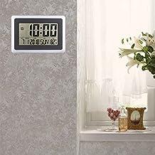 Kongnijiwa El LCD exhibe Digital del Reloj de Pared de Tiempo del termómetro del Calendario de