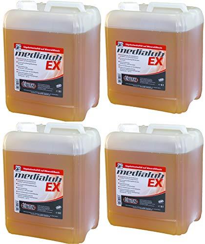 4 X 5 litri KETTLITZ-Medialub EX olio per catena per motosega ad alte prestazioni, olio per cat