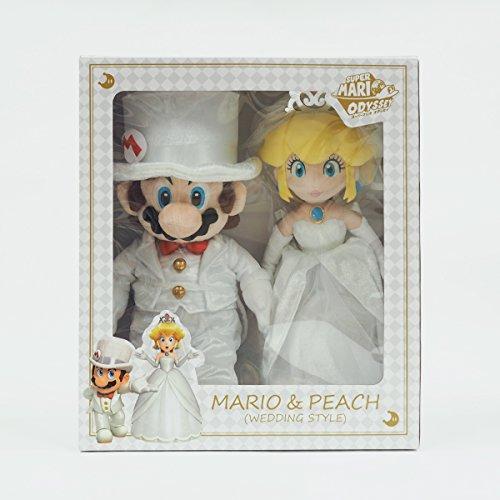SAN-EI CO.,LTD. ???? Super Mario Odyssey Plüsch Figur: Mario und Prinzessin Peach [Wedding Style]
