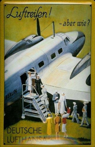 blechschild-nostalgieschild-lufthansa-luftreisen-propeller-flugzeug-retro-schild