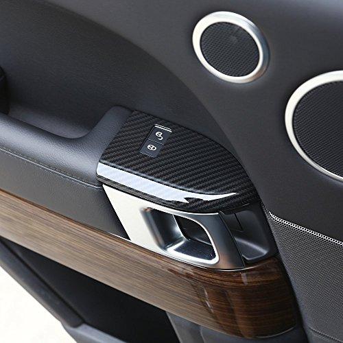 Noir Mercedes Benz Moteur Bouton Start fibre de carbone Housse Autocollant A B C GLA