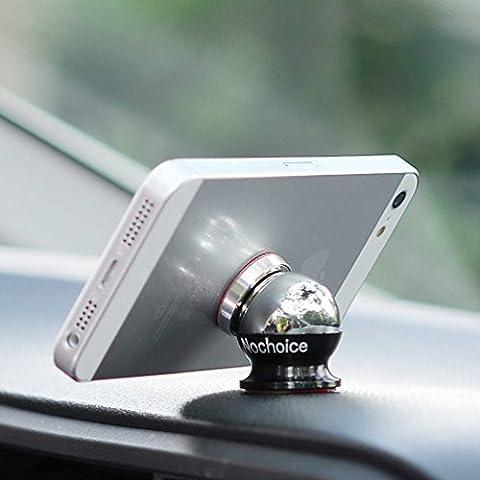 Nochoice® Einstellbar KFZ Handyhalter für Universal Smartphone Handyhalterung Universal Autohalterung Magnet Auto Halter für Navi iPhone 6 iPhone 5 5S 5C 4 4S Samsung Galaxy S6 S5 S4 S3 Note 3 HTC One Nexus 7 Blackberry LG(1+1 Black)
