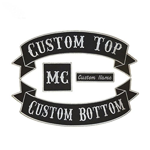 Graceful life Custom Patch Weste Biker Motorrad Rocker Name Patches für Jacken Schwarz