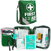 First Aid Kit -Compact First Aid Bag(175 Piece) - Reflective Bag Design- Includes 2 x Eyewash,Instant Cold Pack,Emergency Blanket, CPR Face Mask for Home, Office, Vehicle,Camping, Workplace & Outdoor