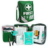 First Aid Kit -Compact First Aid Bag(175 Piece) - Reflective Bag Design- Includes
