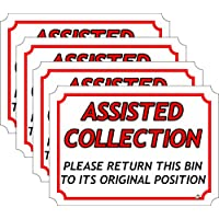 The Lazy Cow ASSISTED COLLECTION wheelie bin stickers A5-210mm x 148mm SET of 4