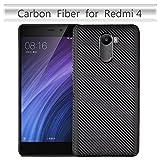 Phone Cases Covers, Für Xiaomi Redmi 4 Fall, dünner Carbonfaser-Gummi-weicher TPU hybrider stoßsicherer Fall-Abdeckung für Xiaomi Redmi 4 (Color : Schwarz)