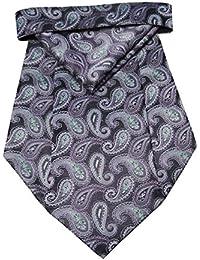 Riyasat - Paisley Design Micro Fiber Cravat with Pocket Square (C_0070)