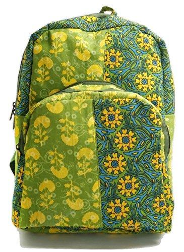 Inde Royale Green colour cotton handbag