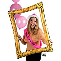 Classy Hen Inflatable Selfie Picture Frame Bundled #selfie tattoo - Giant Photo Booth Celebration Blow Up Party Prop - ideal for wedding, hen party, stag, baby shower, birthday