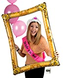 Inflatable Selfie Picture Frame Bundled With #selfie tattoo - Giant Photo Booth Celebration Blow Up Party Prop - ideal for wedding , hen party, stag , baby shower , birthday, Christmas Selfie Frame