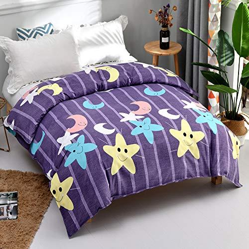 KAMIER Heimtextilien-Bettwäscheset Kinderbettwäsche Bettwäsche Bettbezug Kissenbezug/Bettbezug wie in Abbildung 200X230 cm dargestellt