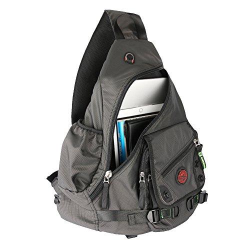 Innturt - Laptop-Schultertasche, Rucksack mit einem Gurt  schwarz schwarz X-large (Lang Kindle Stromkabel)