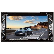 homelink® 262universale 2DIN Radio Auto Bluetooth 6.2pollici Car Stereo DVD/USB/SD Lettore HD multimediale con interfaccia disign Display TFT a colori per tutti i veicoli