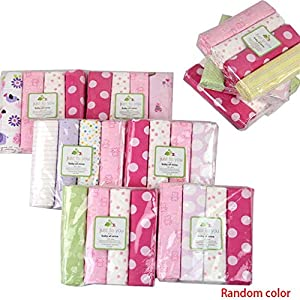 Aiming 4pcs / Set para bebés de algodón Manta de recepción recién Nacido Bedsheet Swaddler Infantil Swaddle Wrap Saco…