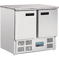 Polar CL108refrigerado contador con encimera de mármol, 240L