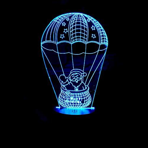YDBDB Nachtlicht Weihnachtsgeschenke 3D Lampe Santa Touch 3D Nachtlicht Led Usb Led Licht