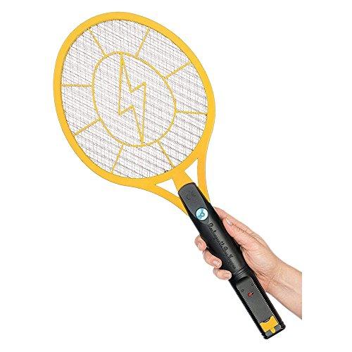 Caroki Elektrische Fliegenklatsche Fliegenfänger Moskito Bug Zapper , Insekten Mörder, 4000 Volt Usb Aufladen, Super-Bright LED-Licht zum Zappen im Dunkeln Einzigartige, 3 Schichten Mesh Schutz (Mittel)
