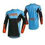O'Neal Element Racewear Motocross Jersey MX Enduro Cross Trikot Mountain Bike Motorrad, 001E, Farbe Blau, Größe L