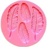 Beauty*Top*Picks Molde de silicona con forma de hojas, para repostería y fondant
