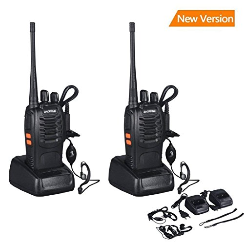OCDAY baofeng bf-888s Walkie Talkie 16CH Signal Band UHF 400-470 MHz Rechargeable Two Way Radio avec chargeur (2 Pack de radios)