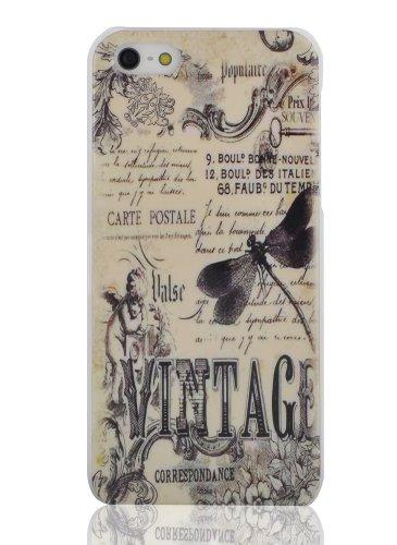 Jammy Lizard Vintage Schutzhülle, Motiv mit Libelle Displayschutzfolie für iPhone 5/5S (Retro-lizard)